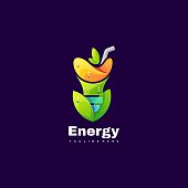 Vector Illustration Energy Gradient Colorful Style.