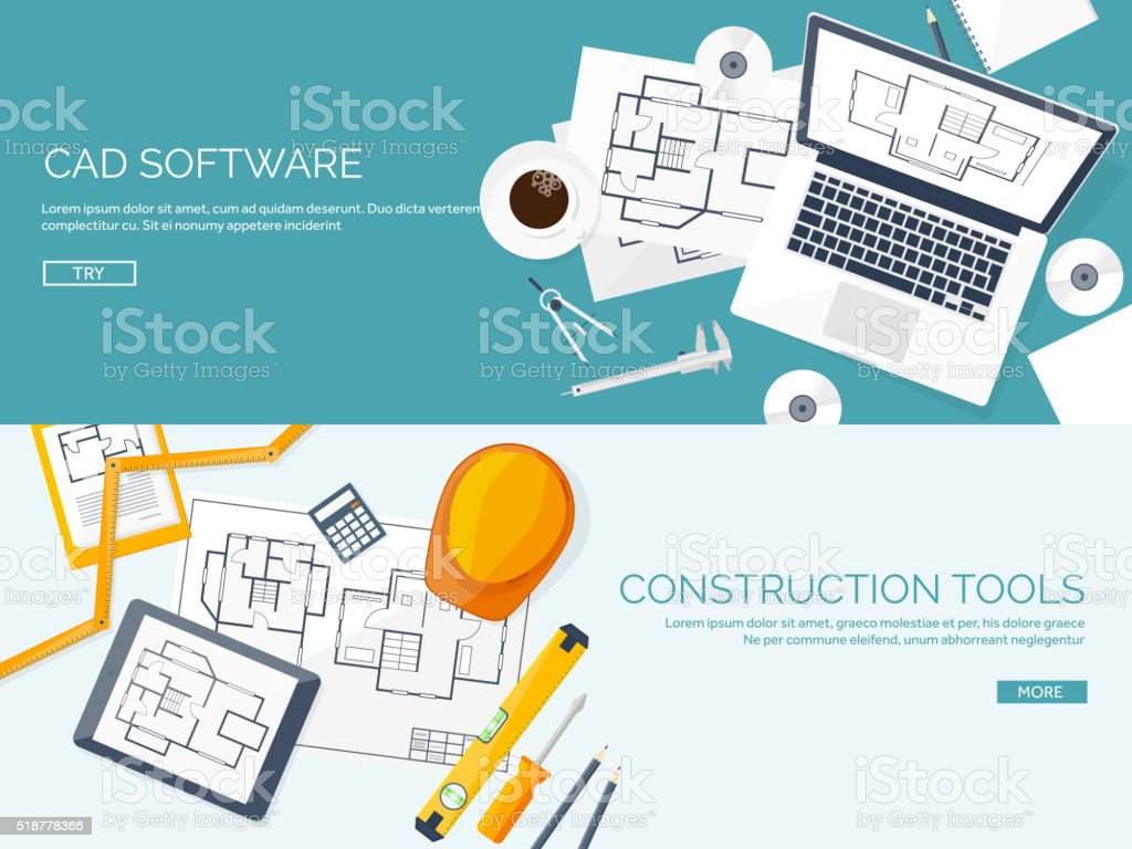 Vector illustration engineering and architecture notebook software blueprint construction industry document industry architect malvernweather Choice Image