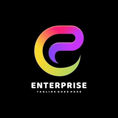 Vector Illustration Enterprise Gradient Colorful Style.