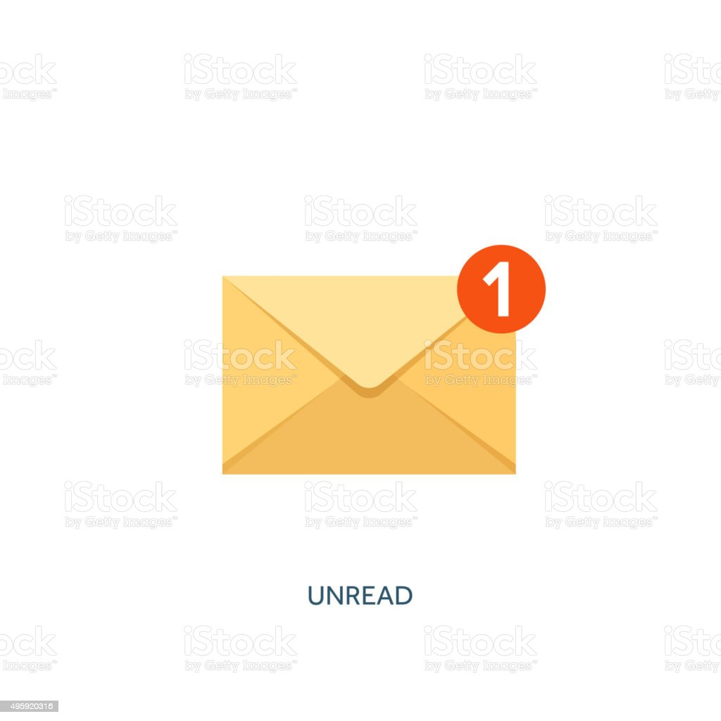 Vector illustration. Envelope icon. Letter, email. Message and communication vector art illustration