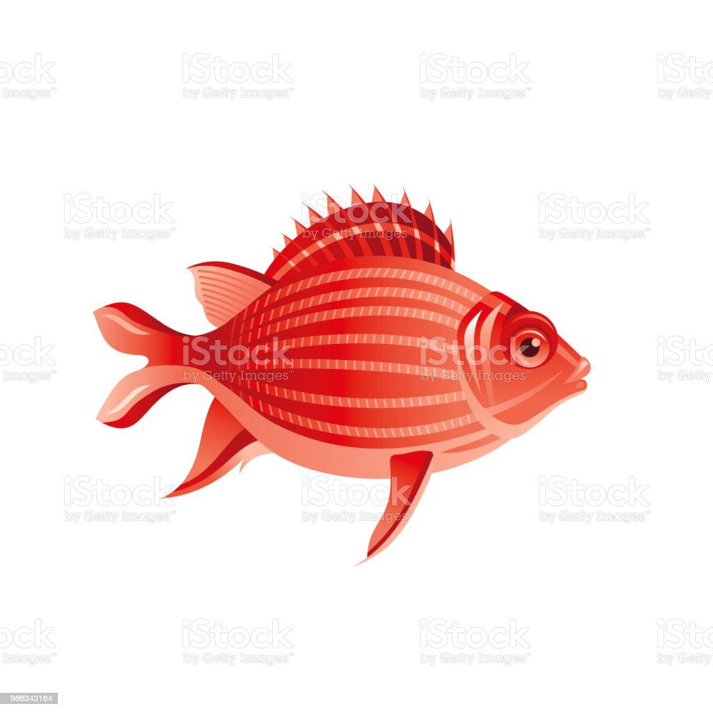 Vector Illustration Eps10 Isole Sur Fond Blanc Symbole Animal De Mer