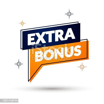 istock Vector Illustration Extra Bonus Pin 1331419744