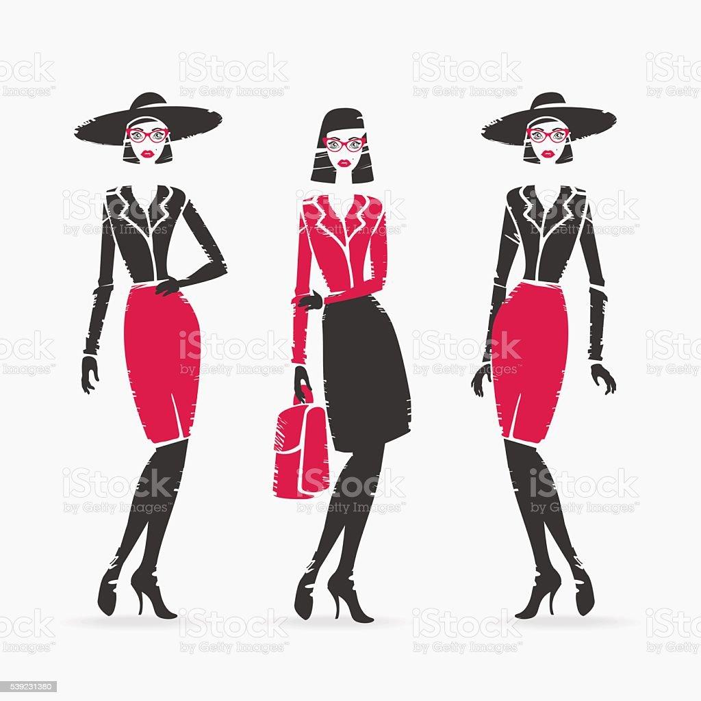 Ilustración de vectores de moda ilustración de ilustración de vectores de moda y más banco de imágenes de adulto libre de derechos
