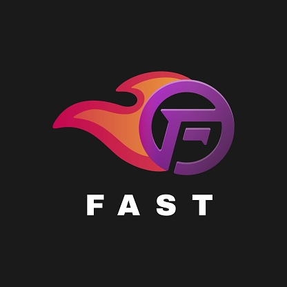 Vector Illustration Fast Gradient Colorful Style.
