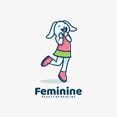 istock Vector Illustration Feminine Simple Mascot Style. 1257511996