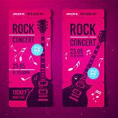 Vektor Illustration Festival Ticket mit Grunge Effekten