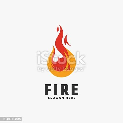 Vector Illustration Fire Colorful Style.