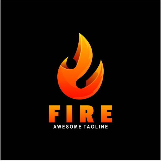 ilustrações de stock, clip art, desenhos animados e ícones de vector illustration fire gradient colorful style. - inflamável