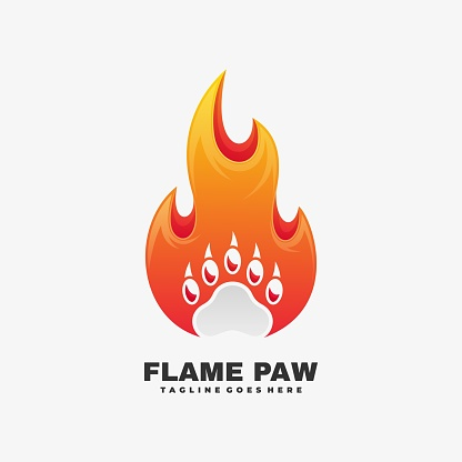 Vector Illustration Flame Gradient Colorful Style.