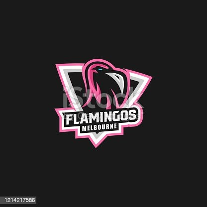 istock Vector Illustration Flamingo E Sport and Sport Style. 1214217586