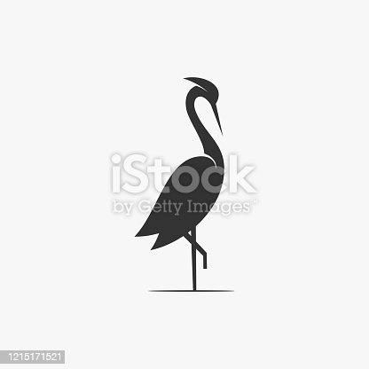 Vector Illustration Flamingo Silhouette Style.