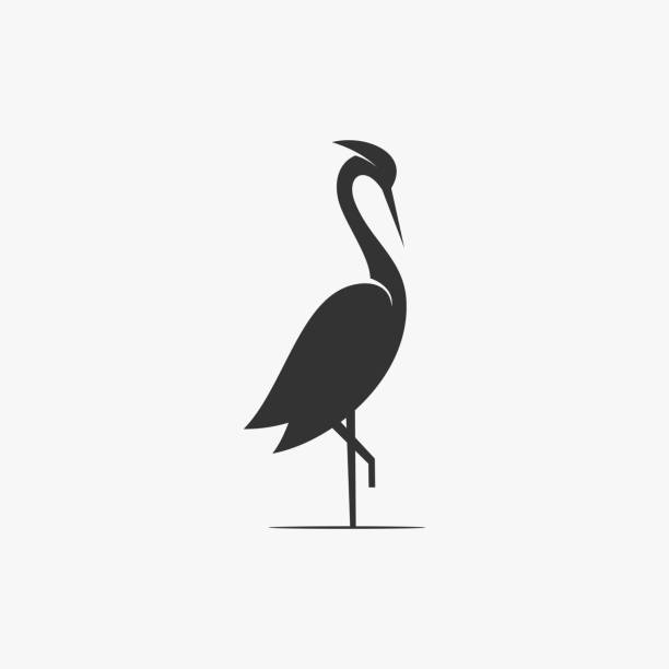 stockillustraties, clipart, cartoons en iconen met vector illustratie flamingo silhouetstijl. - afrikaanse vogel