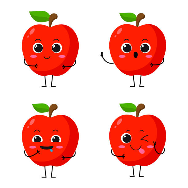 Best Apple Cartoon Illustrations, Royalty-Free Vector ...