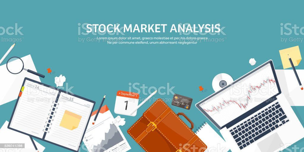 Vector illustration. Flat background. Market trade. Trading platform ,account. Moneymaking royalty-free vector illustration flat background market trade trading platform account moneymaking stock vector art & more images of blue