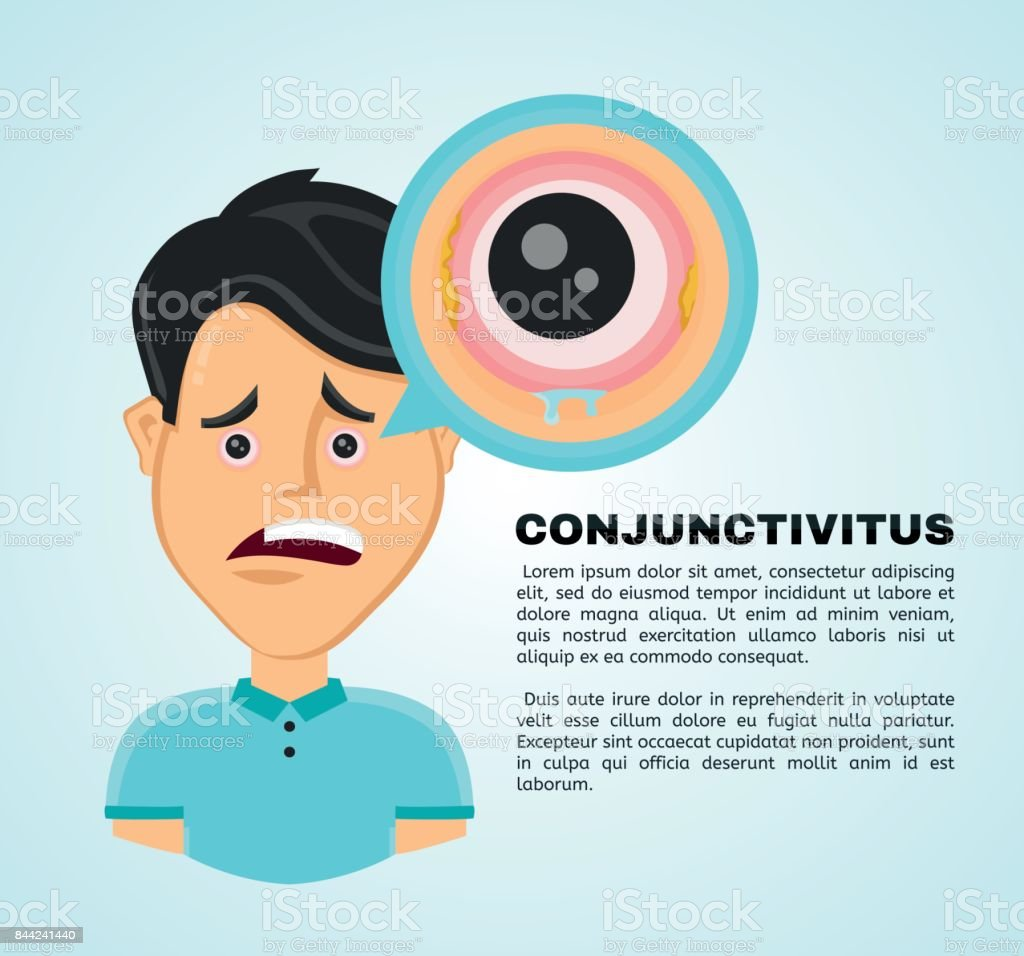 Vector illustration flat suffering young man vector art illustration