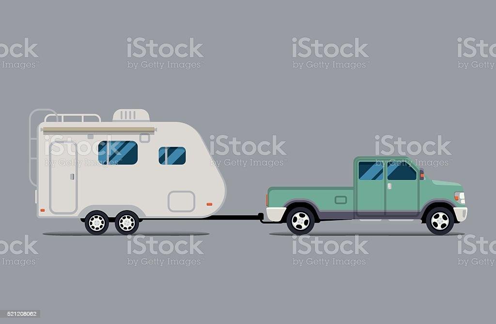 Векторный рисунок Квартира. грузовик встреча векторная иллюстрация