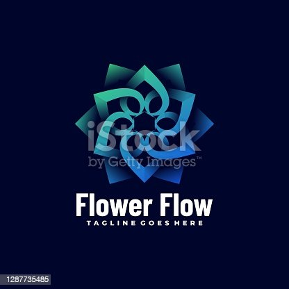 istock Vector Illustration Flower Flow Gradient Colorful Style. 1287735485