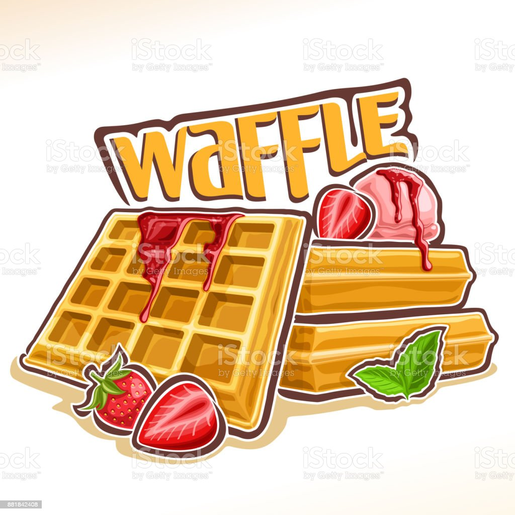 Vector Illustration For Belgian Waffle Stock Vector Art ...