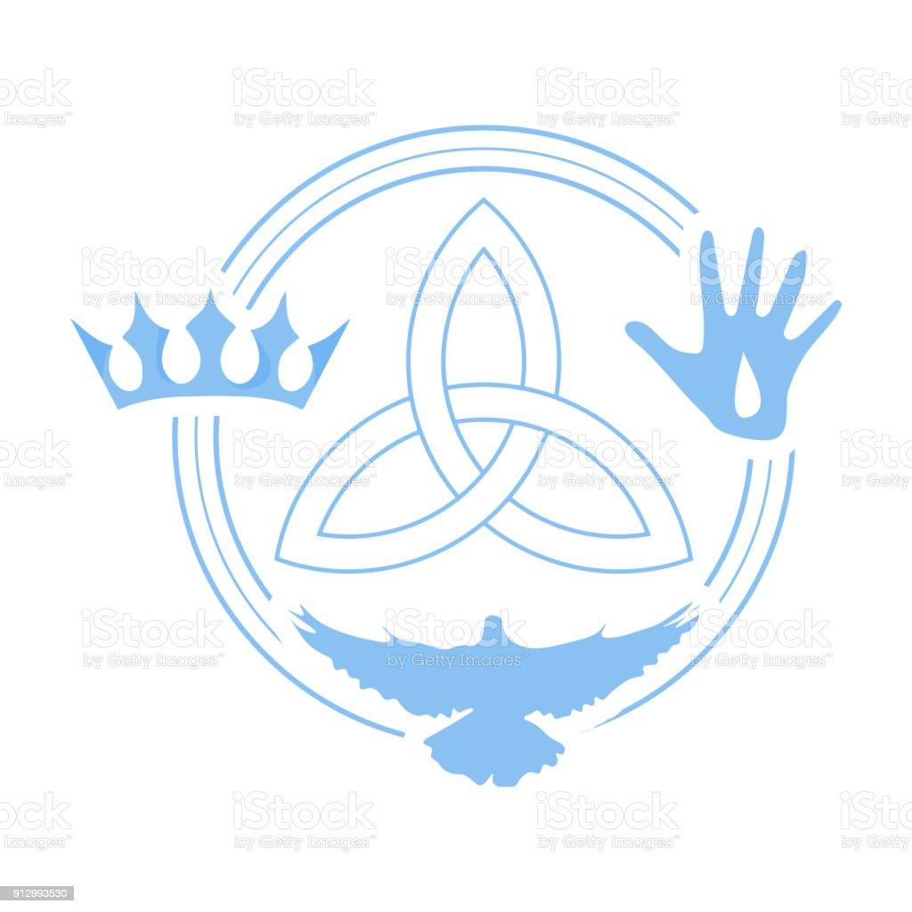 Vector illustration for christian community holy trinity trinity vector illustration for christian community holy trinity trinity symbol with three hypostases as one buycottarizona Choice Image