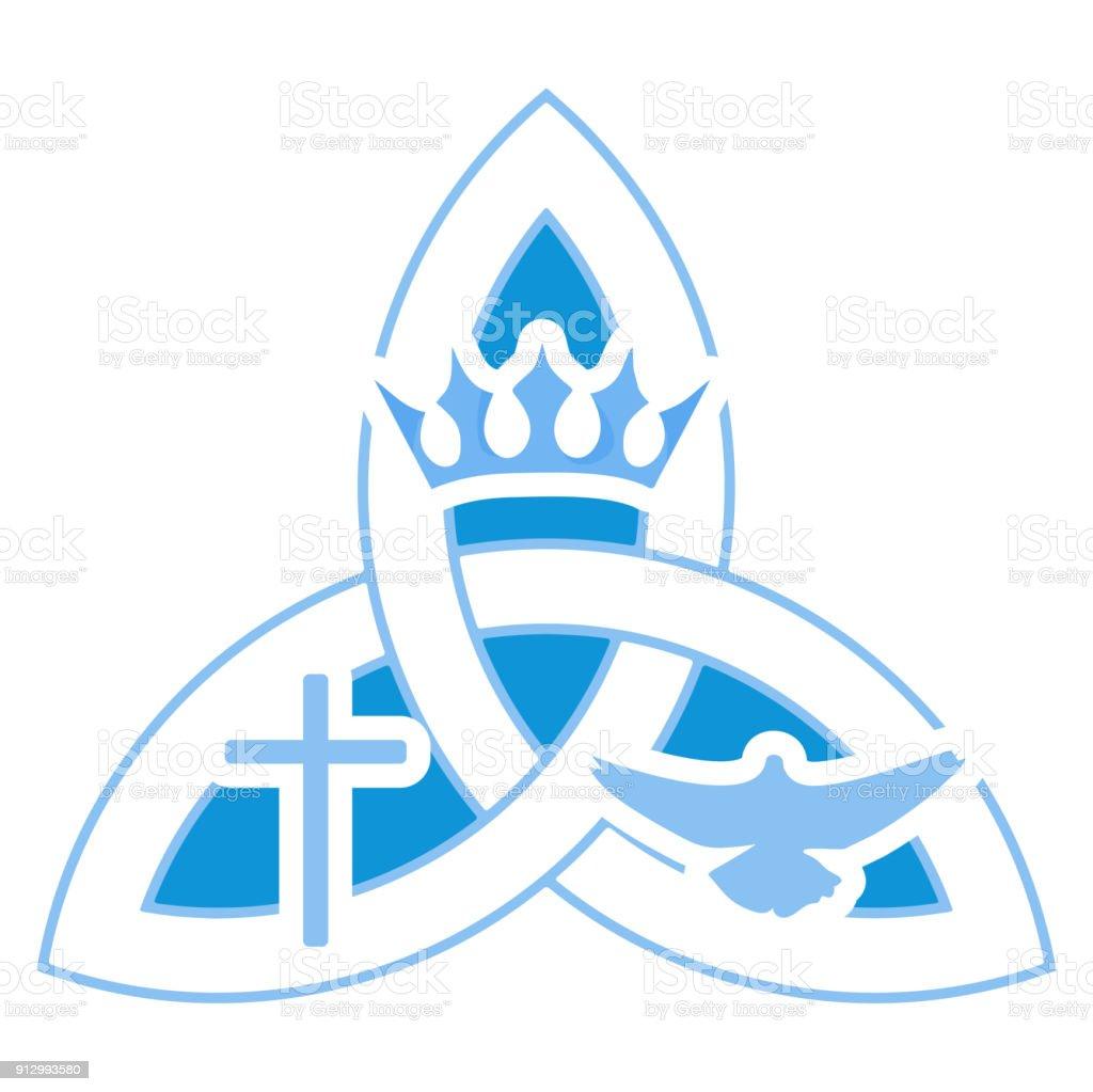 Ilustración De Vector Ilustración De La Comunidad Cristiana Santísima Trinidad Símbolo De La Trinidad Y Más Vectores Libres De Derechos De Adivinación Istock