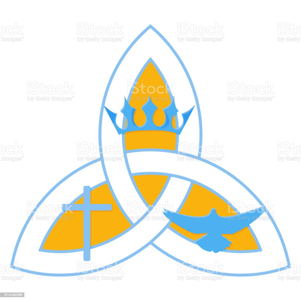 Vector Illustration For Christian Community Holy Trinity Trinity