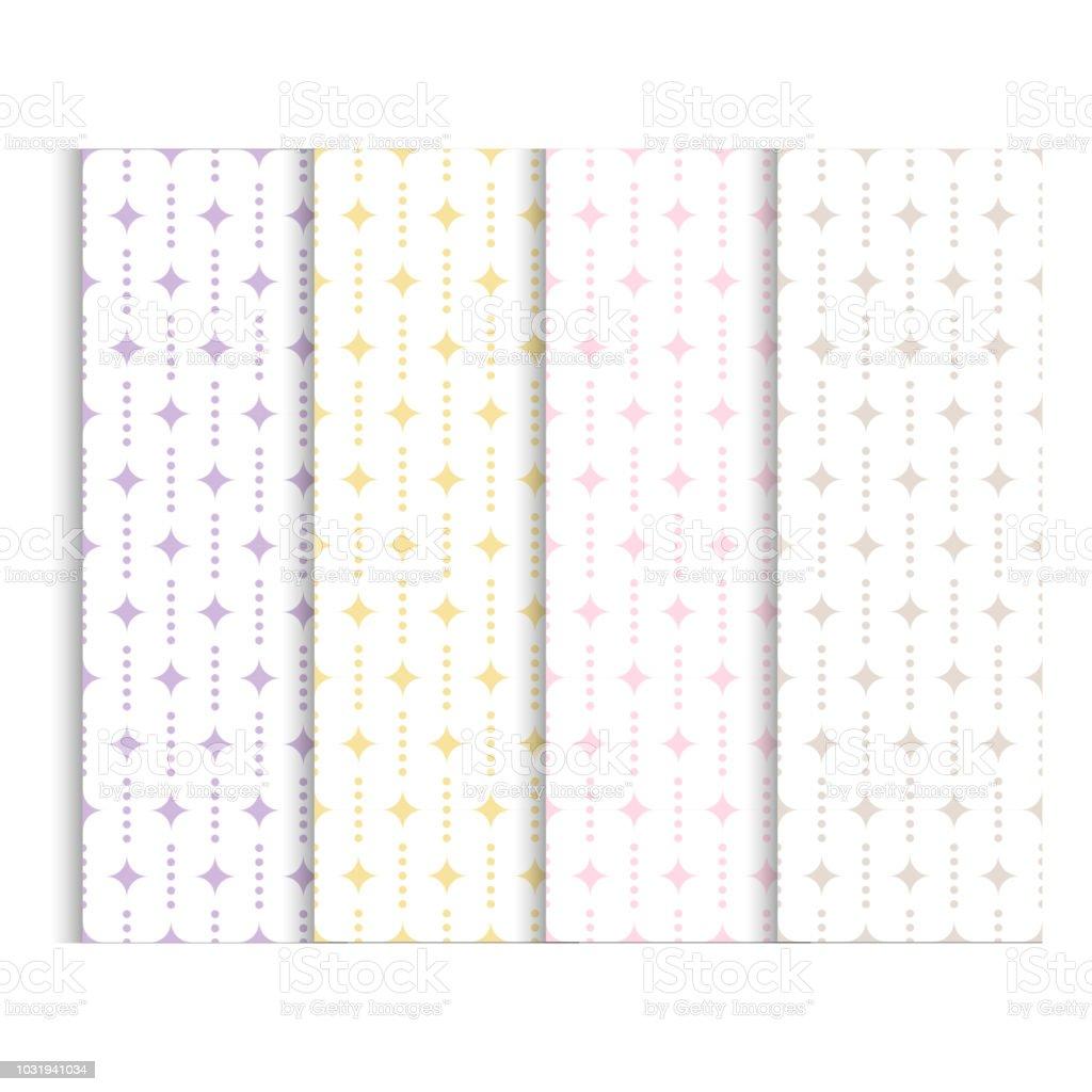 エレガントなデザインのベクトル図です赤ちゃんのシャワー パターン