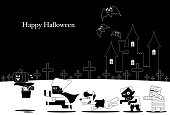 This is a vector illustration for Halloween that can be used for Halloween greeting card.