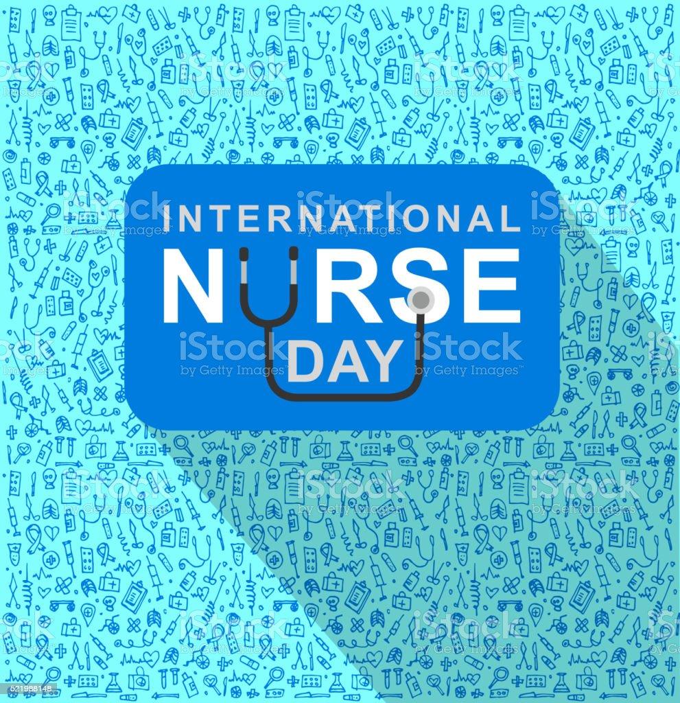 Vector illustration for International Nurse Day vector art illustration