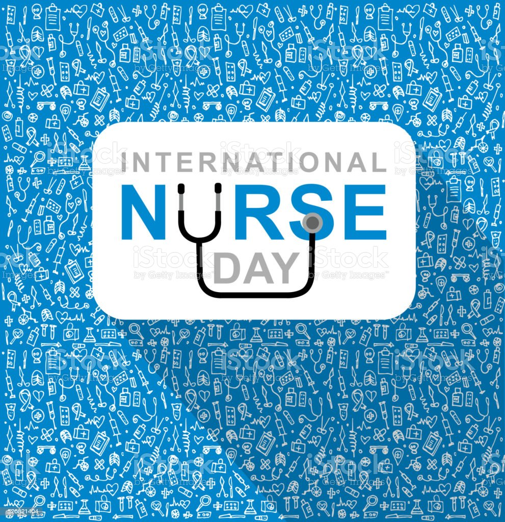 Vektor-illustration für internationale Krankenschwester Tag – Vektorgrafik