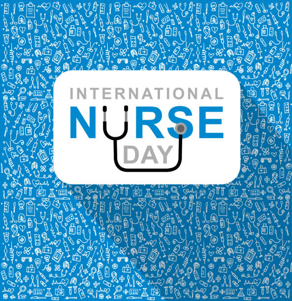 vector illustration for international nurse day - nurse stock illustrations, clip art, cartoons, & icons