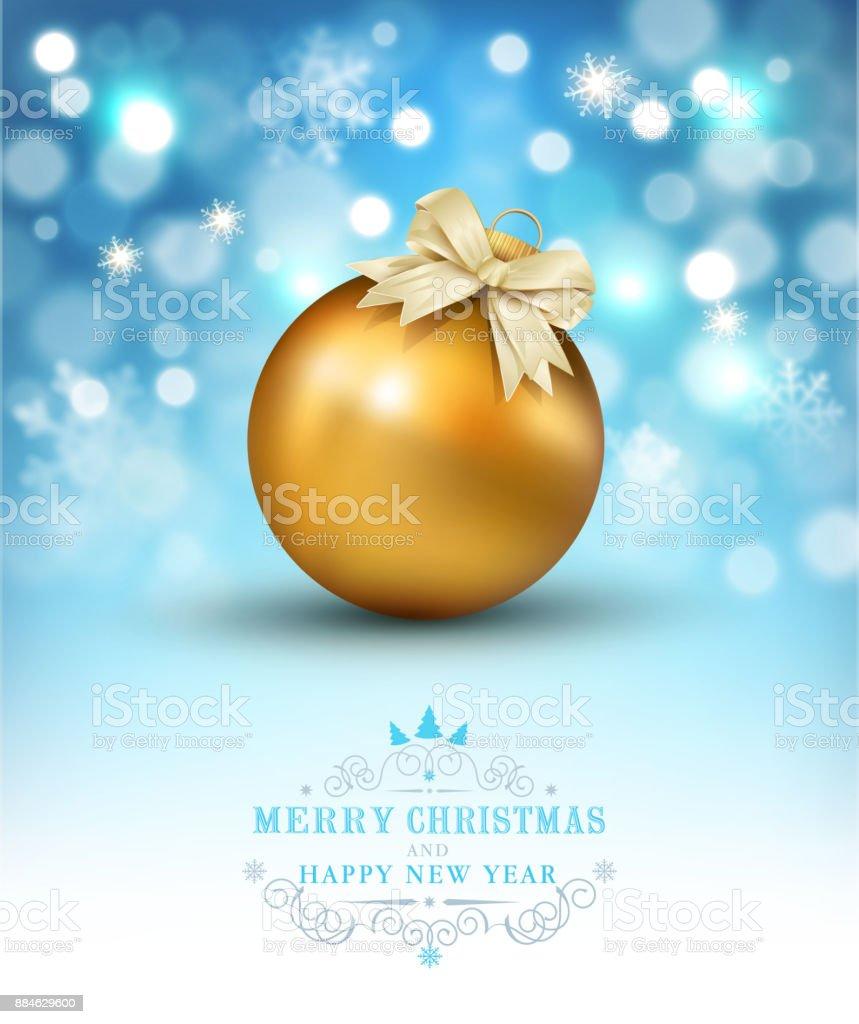 Vektorillustration Für Frohe Weihnachten Und Glückliches Neues Jahr ...