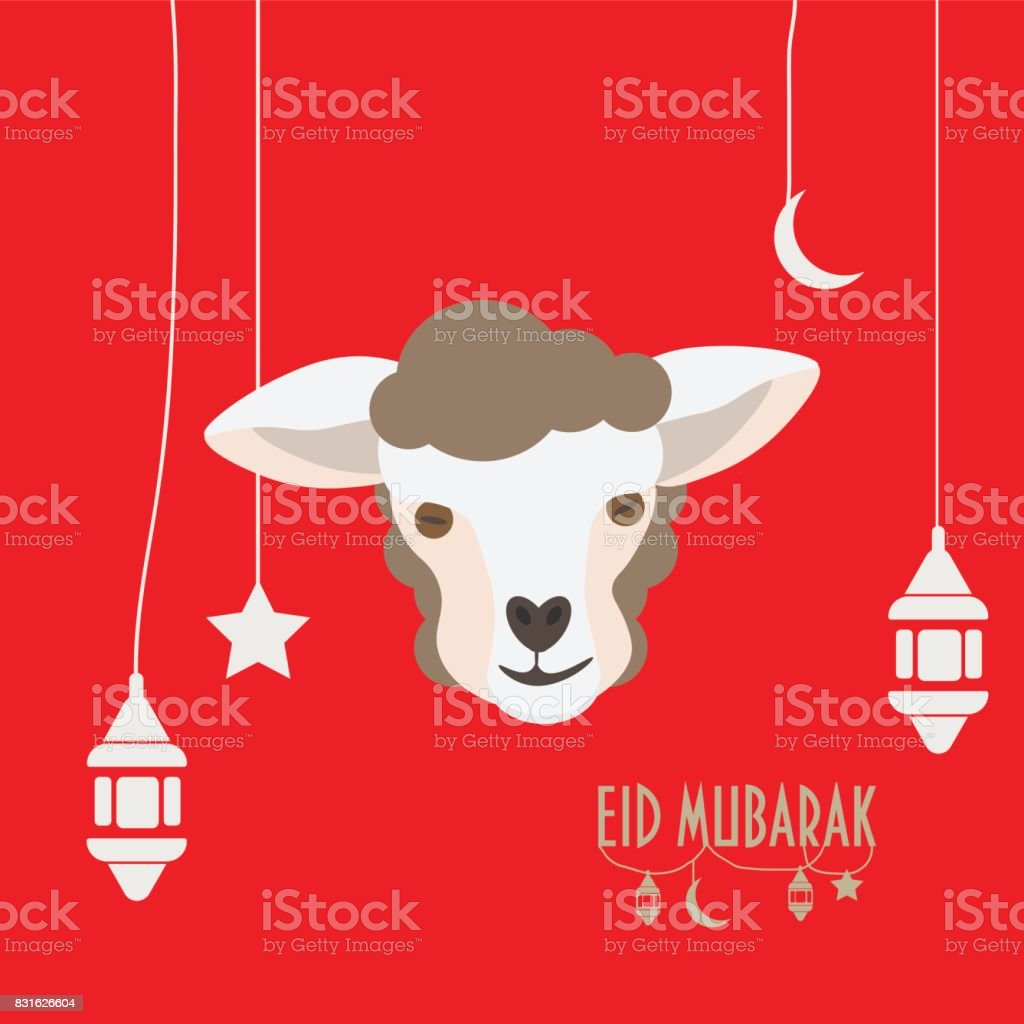 Vector Illustration For Muslim Community Greeting Card For Eid