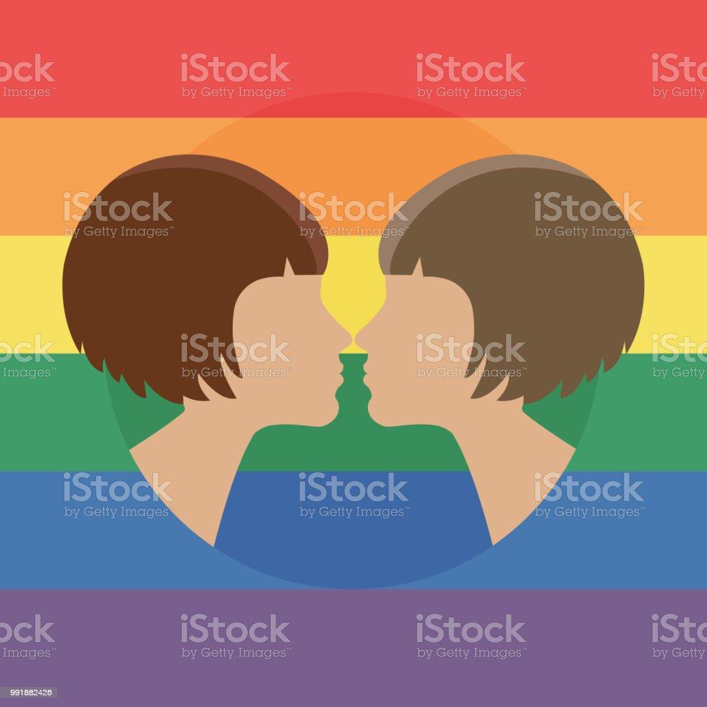 Sich zwei frauen küssen Wie küsst
