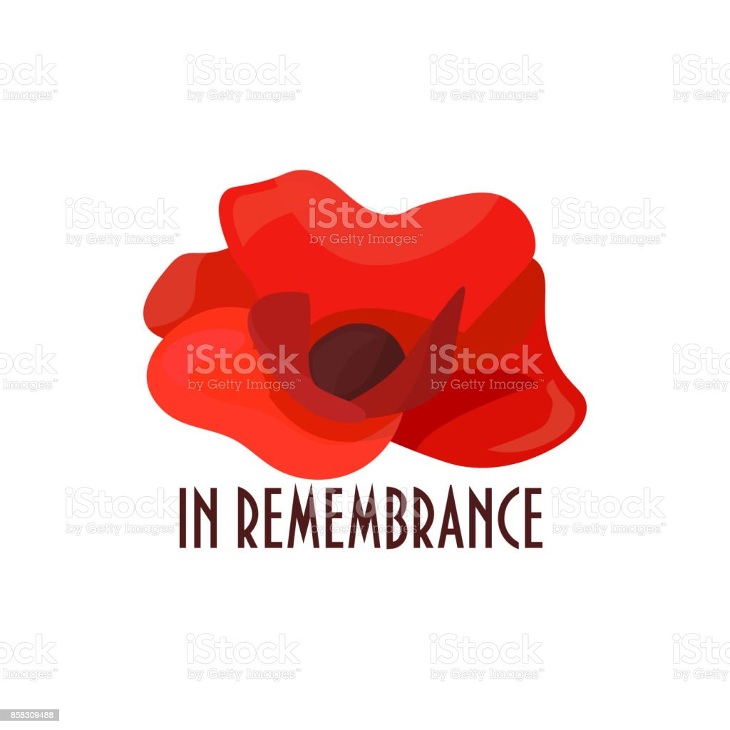 Vector Illustration For Remembrance Day Also Known As Poppy Or