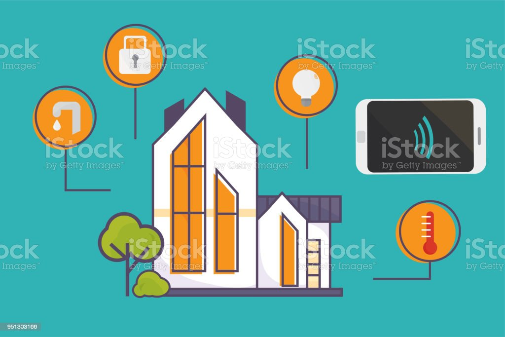 Vectorillustratie Voor Smart Home Technologie Materialen