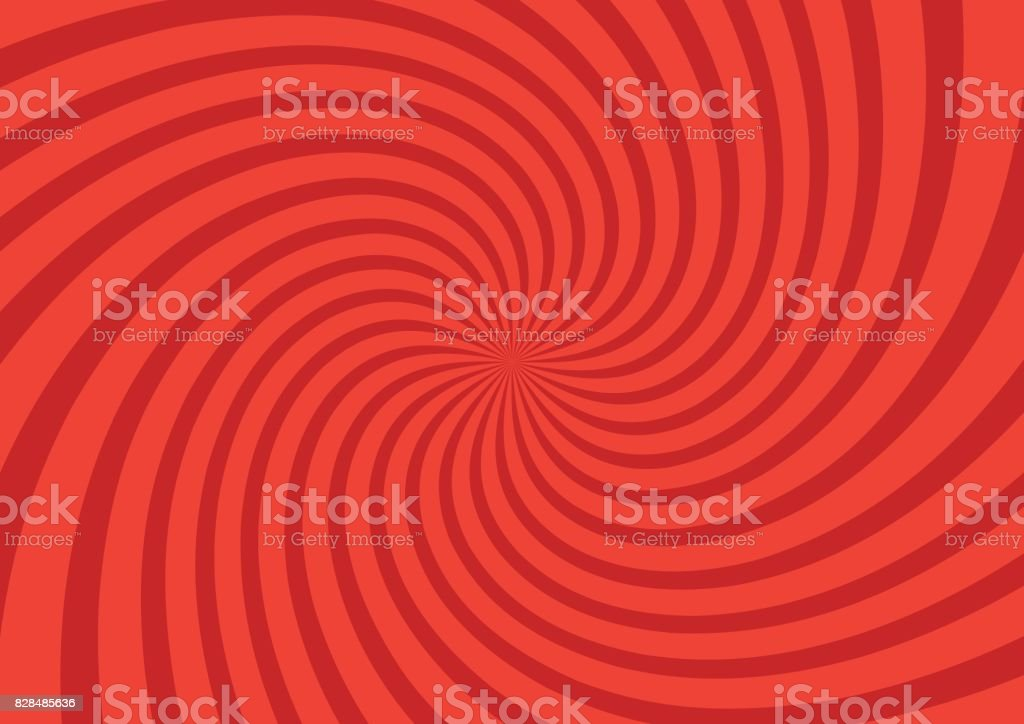 Vector illustration for swirl design. Swirling radial pattern background. Vortex starburst spiral twirl square. Helix rotation rays. Converging psychedelic scalable stripes. Fun sun light beams vector art illustration