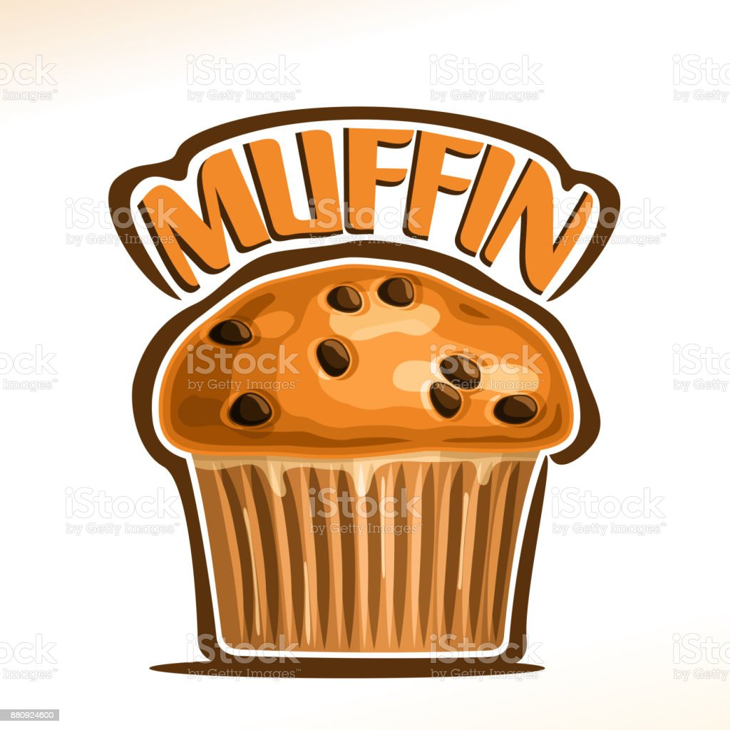 Vector Illustration For Traditional Muffin Stock Illustration - Download  Image Now