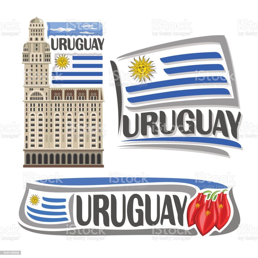 Ilustración de vector de Uruguay - ilustración de arte vectorial