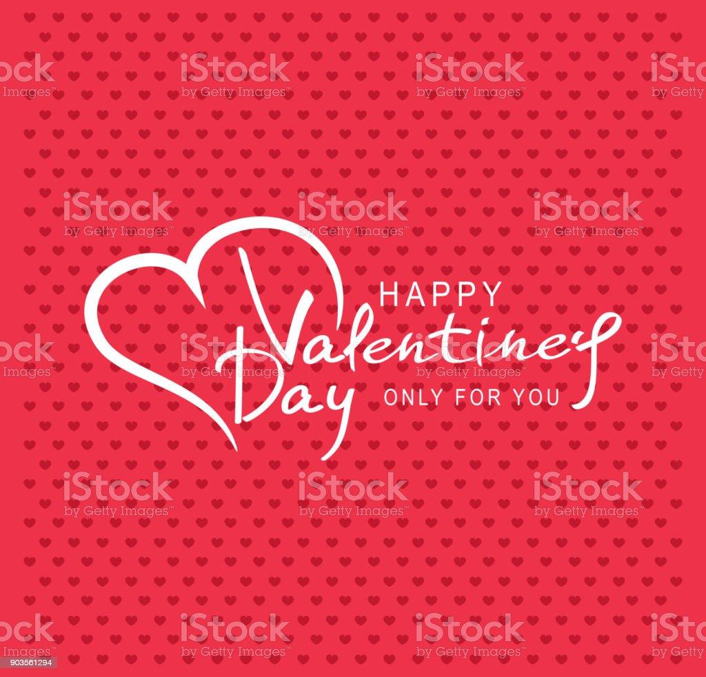 Vektorillustration Zum Valentinstag Herz Mit Text Zum Valentinstag ...