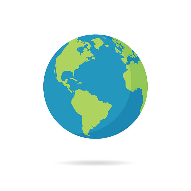 Vector illustration for web banner,  and mobile, infographics Flat planet Earth icon. Vector illustration for web banner, web and mobile, infographics. planet earth stock illustrations