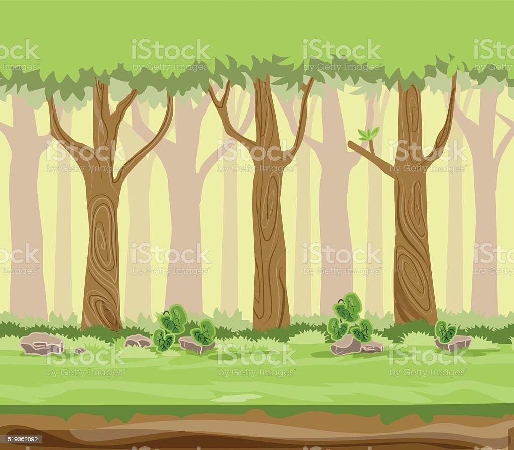 Vetores De Desenho De Ilustracao Vetorial Floresta E Mais Imagens