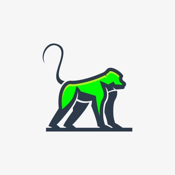 Vector Illustration Forest Monkey Mascot Cartoon. Vector Illustration Forest Monkey Mascot Cartoon. marmoset stock illustrations