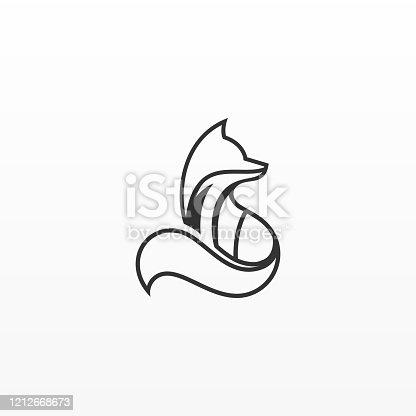 istock Vector Illustration Fox Line Art Style. 1212668673