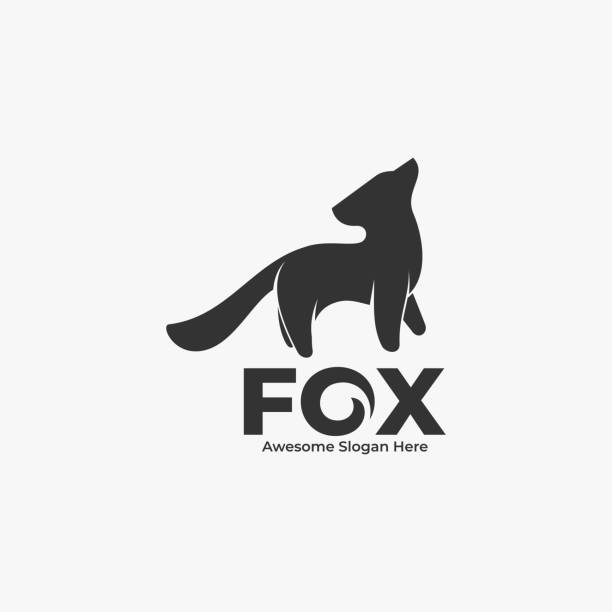 Vector Illustration Fox Silhouette Style. Vector Illustration Fox Silhouette Style. cute wolf stock illustrations