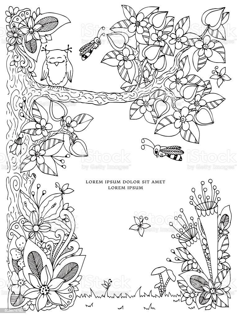 Ilustracao Vetorial Com Flores Moldura Arte Vetorial De Stock E