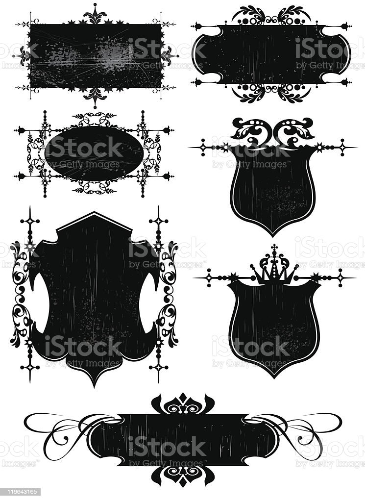 Vector illustration frames and banners for design royalty-free vector illustration frames and banners for design stock vector art & more images of 1940-1949