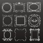 Vector illustration frames and banners for design