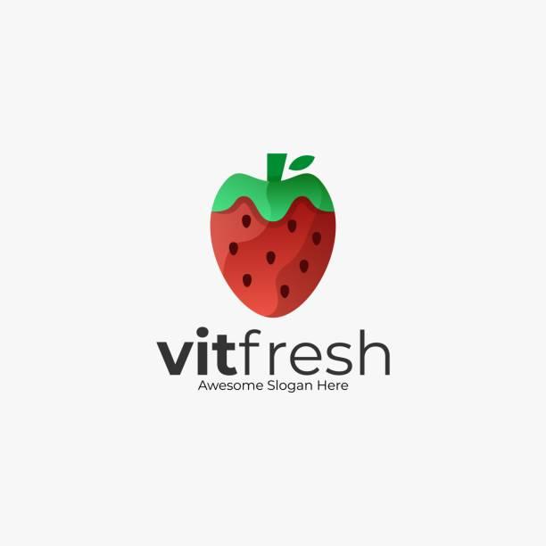 Vector Illustration Fresh Strawberry Color Style. Vector Illustration Fresh Strawberry Color Style. autumn symbols stock illustrations