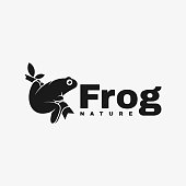 Vector Illustration Frog Silhouette Style.