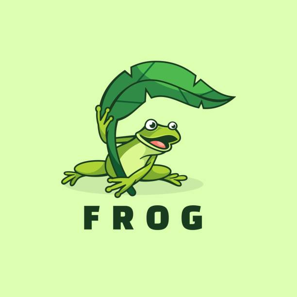Vector Illustration Frog Simple Mascot Style. Vector Illustration Frog Simple Mascot Style. amphibians stock illustrations
